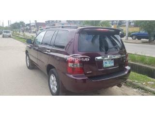 2001 Toyota Highlander Red
