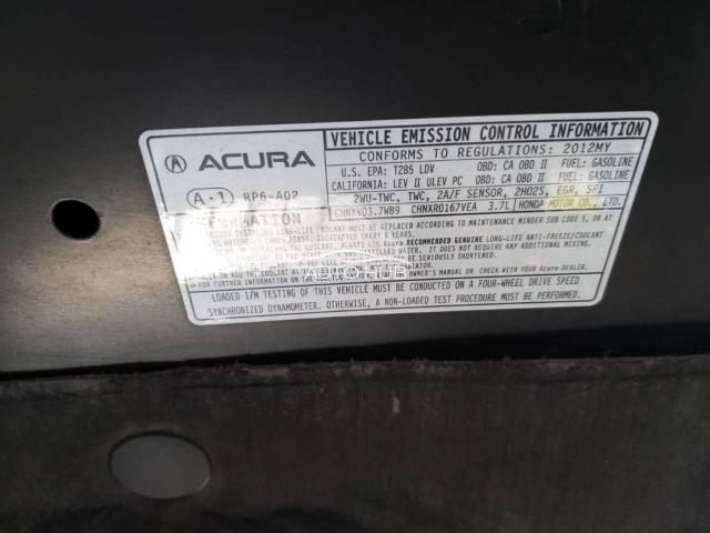 2012 Acura ZDX Black