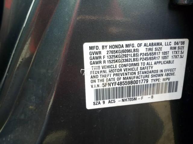2010 Honda Pilot Grey